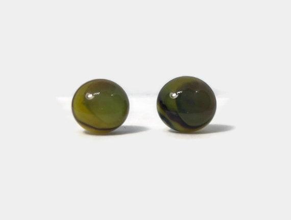 Fused Glass earrings, minimalist earrings, stud earrings, Unique gifts, glass earrings, glass studs, dichroic glass studs, fused glass studs