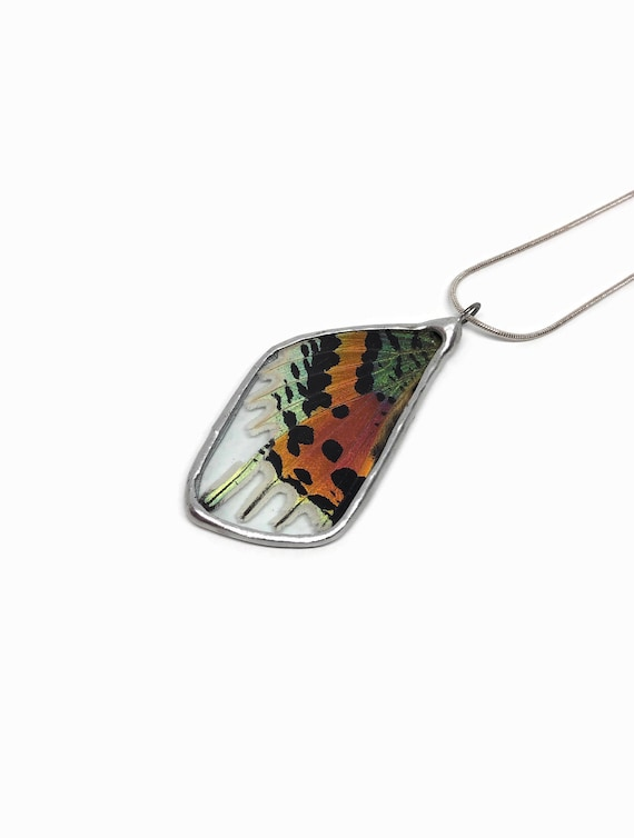 butterfly necklace, statement jewelry, jewelry for her, butterfly jewelry, Gifts for mom, Real Butterfly Wing, butterfly taxidermy, gifts