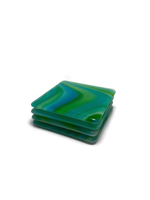 Glass coasters, Fused glass coasters, coaster set, themed coasters, striped coasters home decor, fused glass coasters, coasters, glass