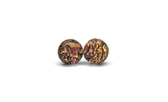 Dichroic Glass earrings, fused glass earrings, dichroic glass jewelry, fused glass jewelry, fused glass earrings, minimalist earrings
