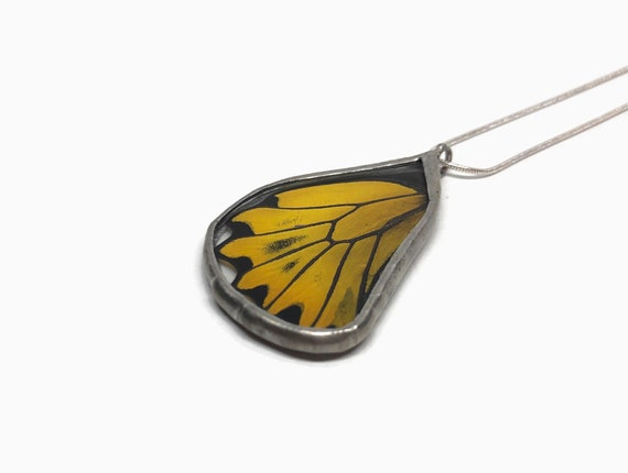 Real butterfly necklace, unique jewelry, insect necklace, gifts for her, insect pendant, Real Butterfly Wing, glass necklace, gifts
