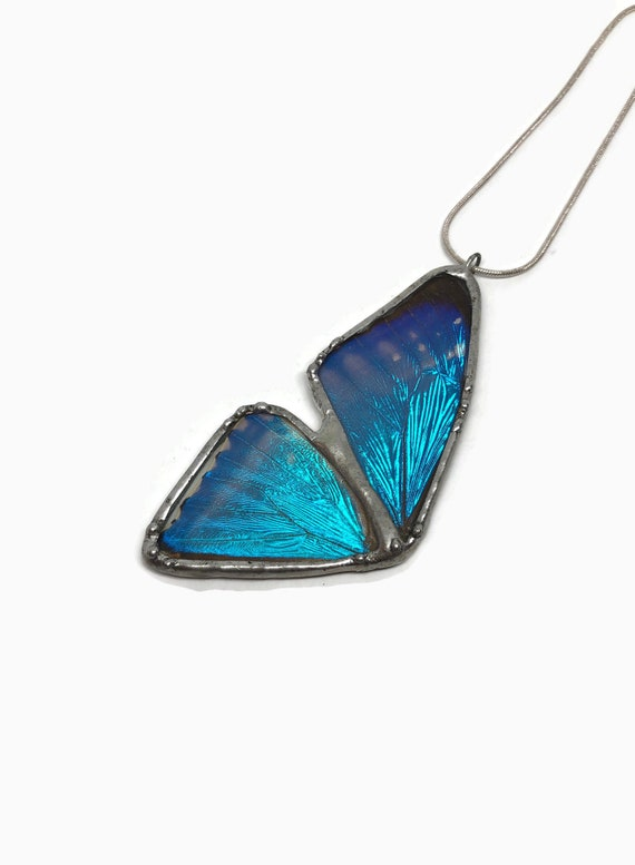 Butterfly necklace, gifts for mom, Blue Morpho Butterfly, Real butterfly Wing, butterfly pendant, Butterfly jewelry, insect jewelry, gifts