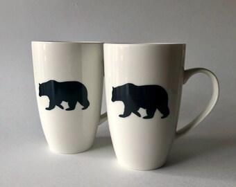 Coffee cup, Bear Coffee mug, bear home decor, tea mug, wilderness gifts, unique gifts for him, bear lover gifts