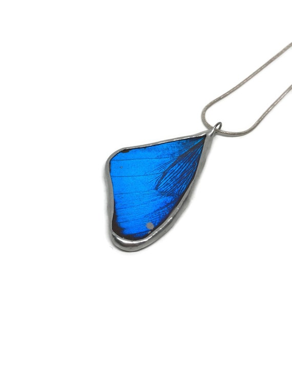 Butterfly necklace, Unique gifts for her, real butterfly Wing, jewelry for her, blue morpho, insect necklace, butterfly taxidermy, gifts