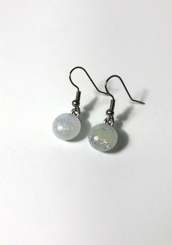 Glass earrings, Unique jewelry, fused glass jewelry, statement jewelry, glass jewelry, Unique gifts for her, dichroic glass jewelry, gifts