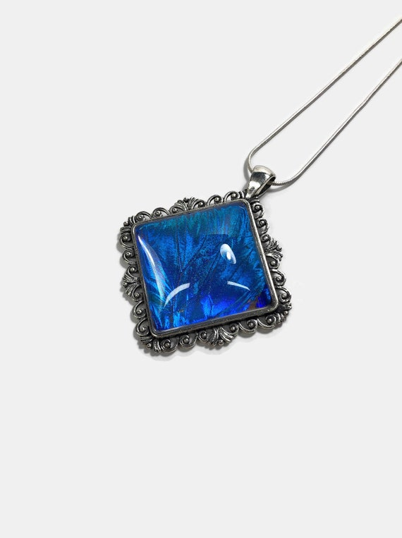 Butterfly pendant, Unique gifts, Real Butterfly Wing, gifts for her, Blue Morpho butterfly, butterfly Pendant, bridal jewelry, insect art
