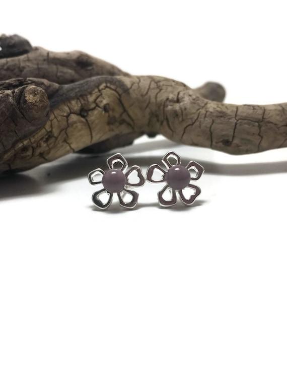 Glass earrings, minimalist earrings, stud earrings, Unique gifts, fused glass earrings, glass studs, dichroic glass studs, fused glass studs