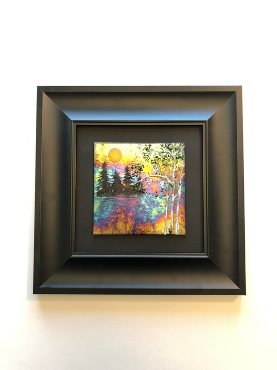 Unique Glass wall art, gifts for her, Glass home decor, fused glass Art, seasons Art, glass sculpture