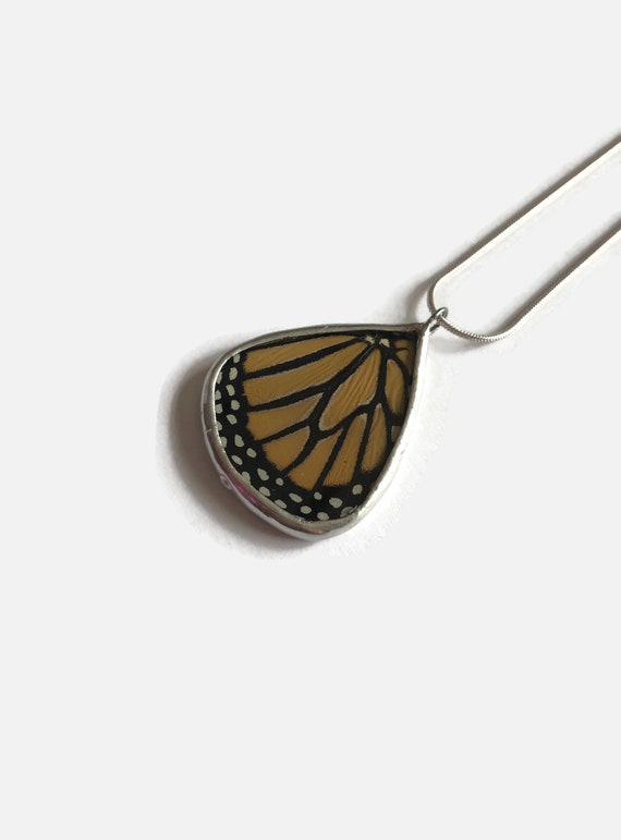 butterfly jewelry, jewelry for her, unique jewelry, real butterfly wing, butterfly pendant, Statement jewelry, monarch butterfly, gifts