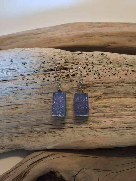 Fused glass jewelry, Dichroic glass jewelry, fused glass earrings, glass earrings, dichroic glass earrings, glass earrings, Dangle earrings