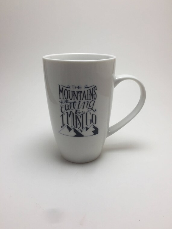 Coffee cup, unique gifts, gifts for her, mountains coffee cup, mountain art, unique art, home decor, mountain themed mug, coffee lover