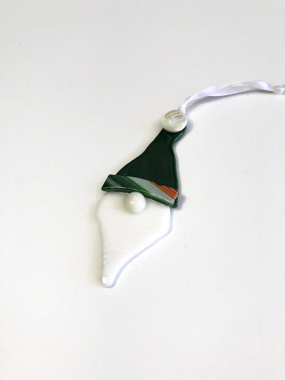 Gnome ornament, fused glass ornament, christmas gifts, Christmas decoration, glass ornament, Christmas ornament, christmas decor, gifts