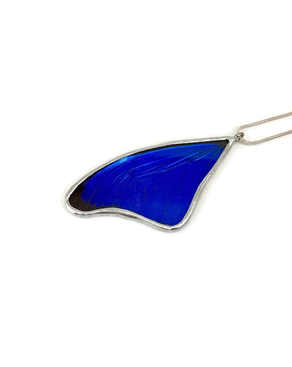 Butterfly Necklace, statement jewelry, Blue Morpho Butterfly, unique gifts for mom, real butterfly wing, butterfly pendant, unique gifts
