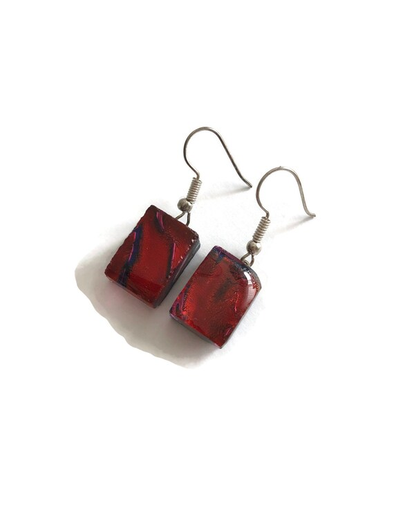 fused glass earrings, unique jewelry, dichroic glass earrings, fused glass jewelry, dichroic glass jewelry, Glass earrings, glass Jewelry