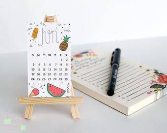 2018 Calendar - Desk Accessory - Calendar - Desk Decor - 2018 - cute small calendar - cute desk accessories - teacher card - gift idea