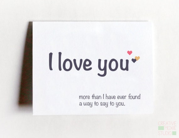 I Love You More Card - Long Distance Card - Love Card - Sweet Card - Card  For Girlfriend - Anniversary Card - Card For BF - Valentines Day