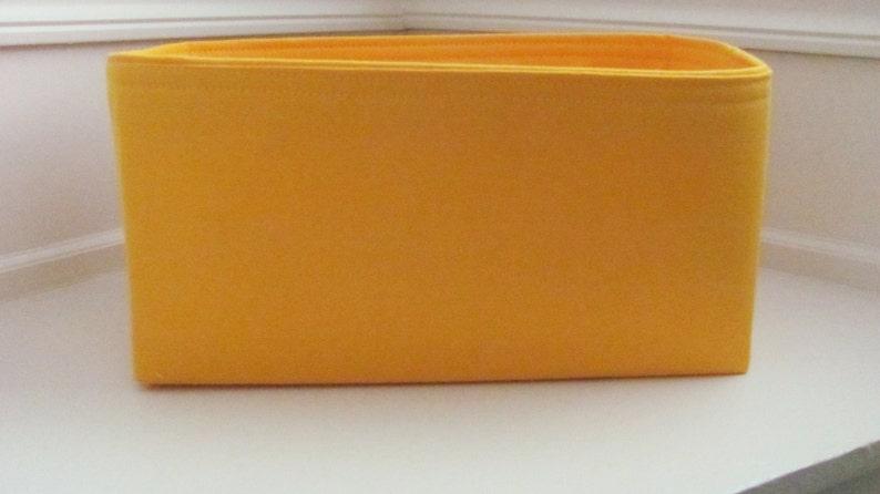 ...Purse Insert ORGANIZER Purse Shaper Fits LV Neverfull MM .Yellow ..Good match for Lv Mimosa 12x6x6