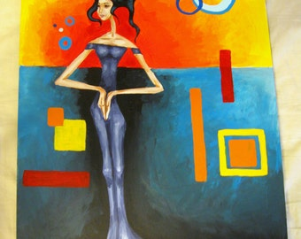 Surrealistic Acrylic Painting - Confidence - Artistry To Alchemy