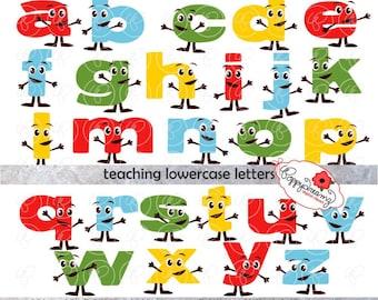 Learning The Alphabet Bundle Clipart School Alphabet Etsy