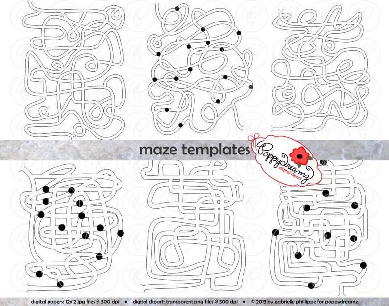 Maze Template Clipart Set 300 Dpi School Teacher Clip Art