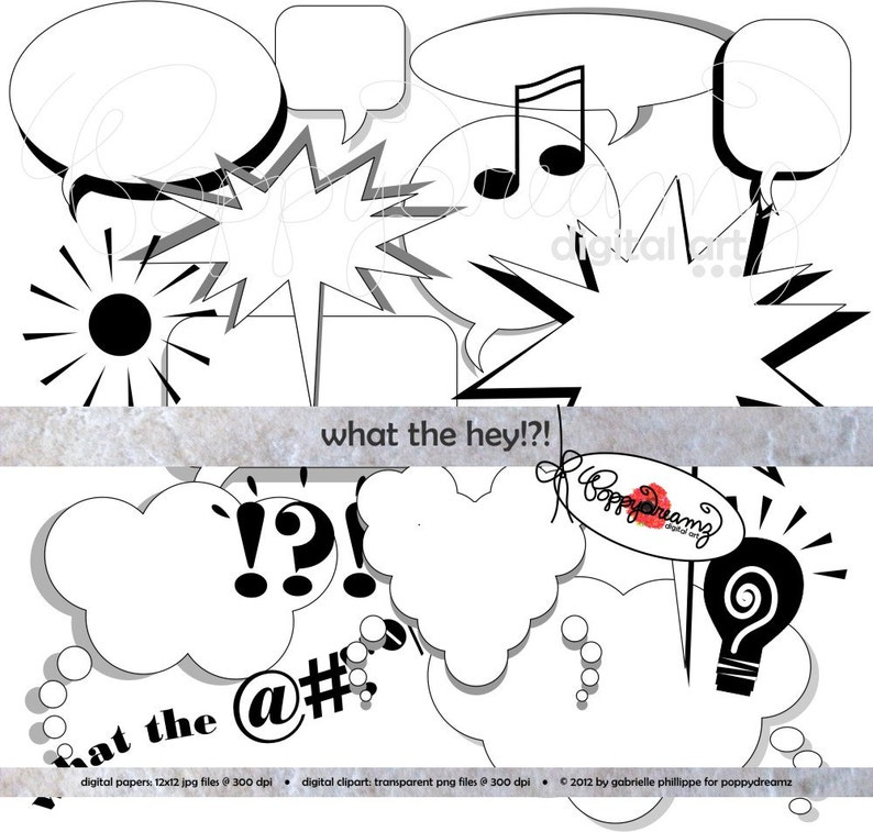 What The Hey Clip Art Pack 300 Dpi Digital Images