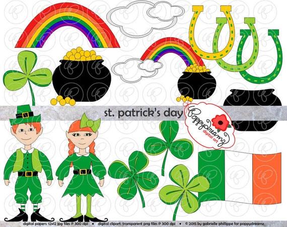 Día de San Patrick de conjunto de imágenes prediseñadas 300 | Etsy