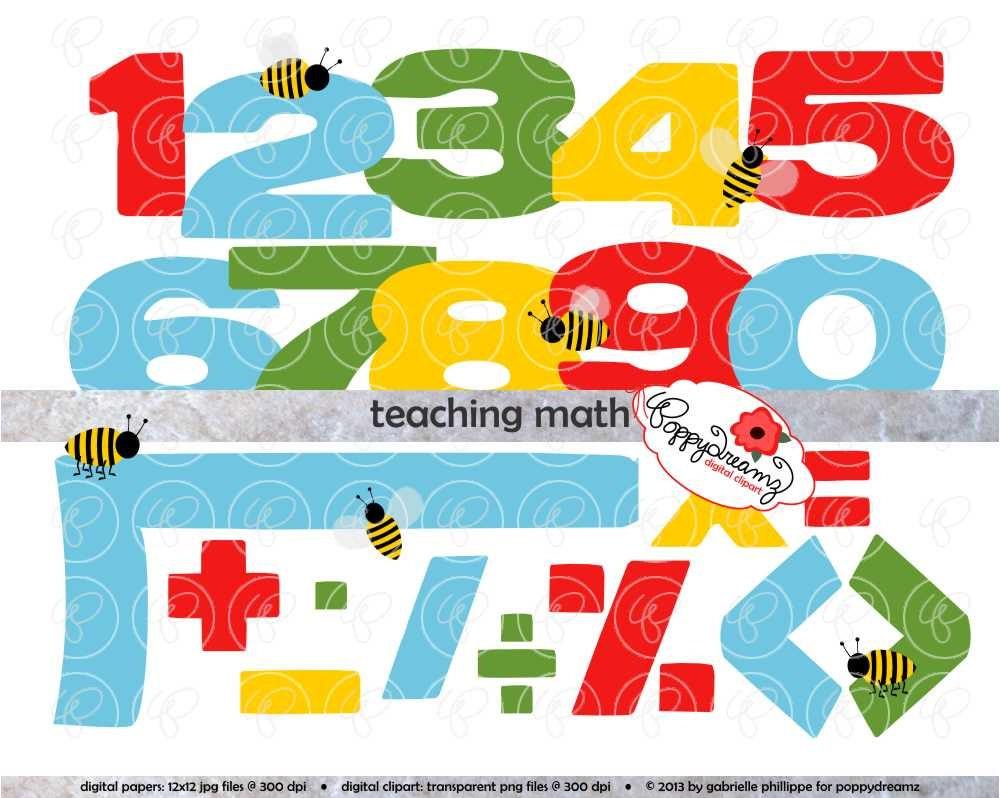 teaching math clipart set 300 dpi school teacher clip art   etsy