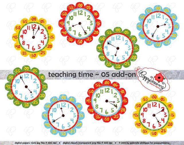 Lehre Zeit 05 Add-on Clipart: Digital Clip Art Pack 300 dpi | Etsy