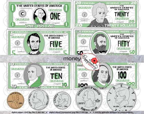 Ten Dollar Bill Clip Art