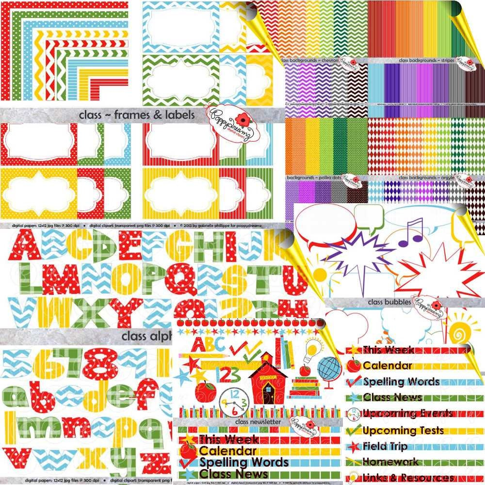 Neue Lehrer Starter Kit Bundle Digital Clipart Pack 300 dpi