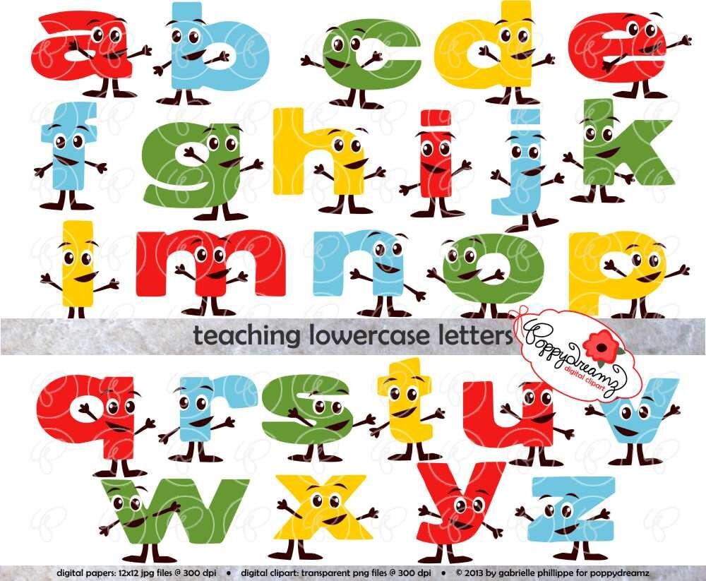 Lehre-Kleinbuchstaben: Clipart Schule Lehrer digitale | Etsy