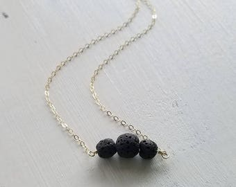 Essential Oil Diffuser necklace / Lava Stone Necklace /Aromatherapy Necklace