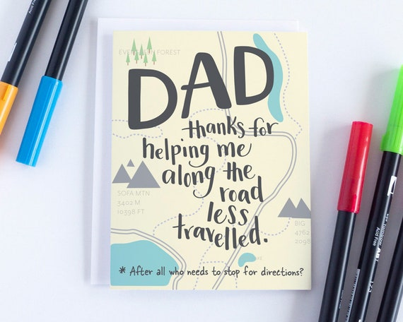 Funny Fathers Day Card Dad For Birthday Cards Men From Son Him