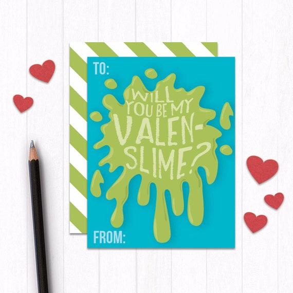 photo about Funny Printable Valentines titled Humorous Youngsters Valentine Card, Slime Printable Valentines Working day