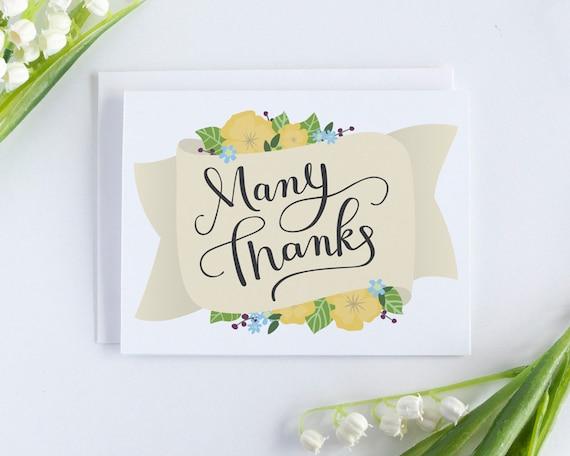 Thank You Cards Wedding Thank You Card Bulk Thank You Notes Etsy