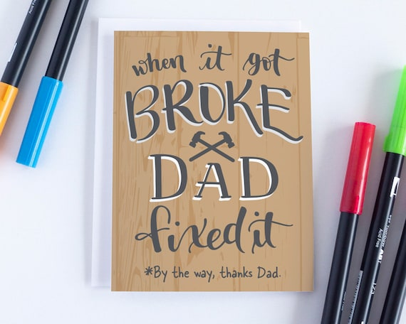 Funny Fathers Day Card For Dad Fathers Day Card Dad Card Dad