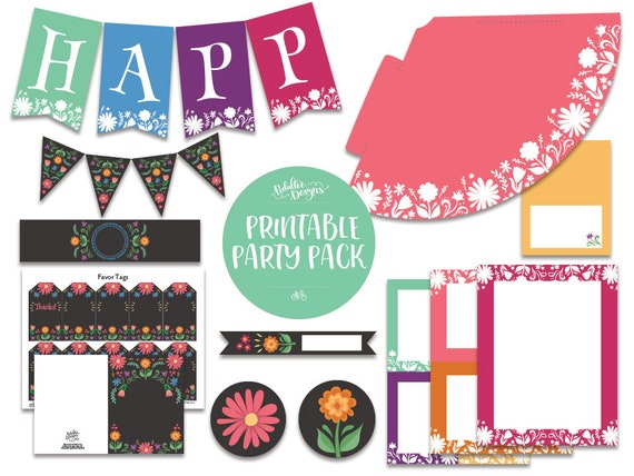 image relating to Cinco De Mayo Printable Decorations called Fiesta Birthday Decorations, Fiesta Occasion Decorations, Coco