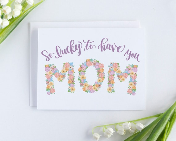 Mothers Day Card Card For Mothers Day Birthday Card For Mom Happy