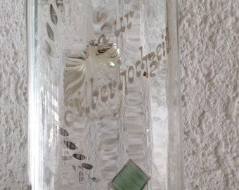Antique Art Nouveau TALL Pitcher, German Silver Anniversary, Roses, Pretty Pastels