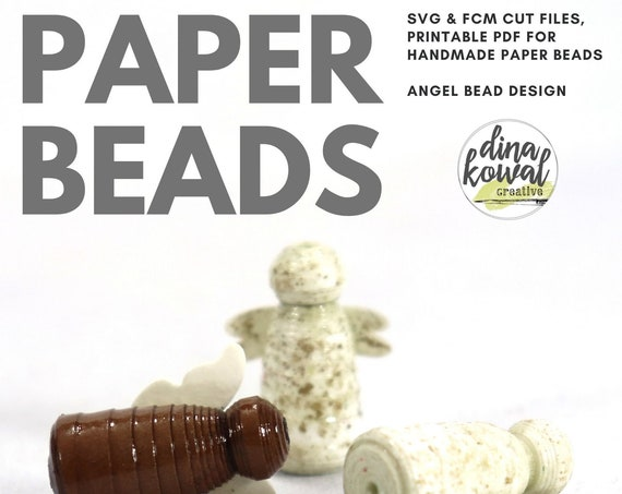 Paper Bead Cut File Template - svg fcm pdf - Angel Bead