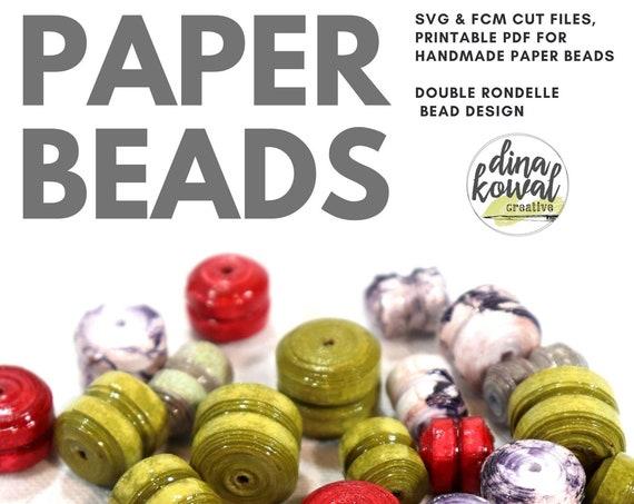 Paper Bead Cut File Template - svg fcm pdf - Double Rondelle 3 sizes