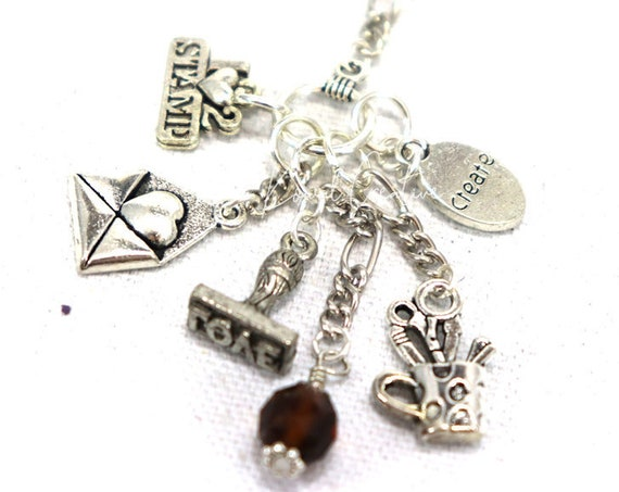 Charm Necklace - Paper Crafter Card Maker Stamper