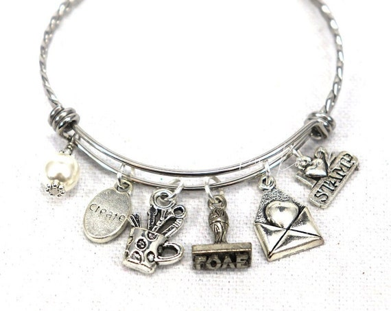 Charm Bangle Bracelet - Paper Crafter Card Maker Stamper