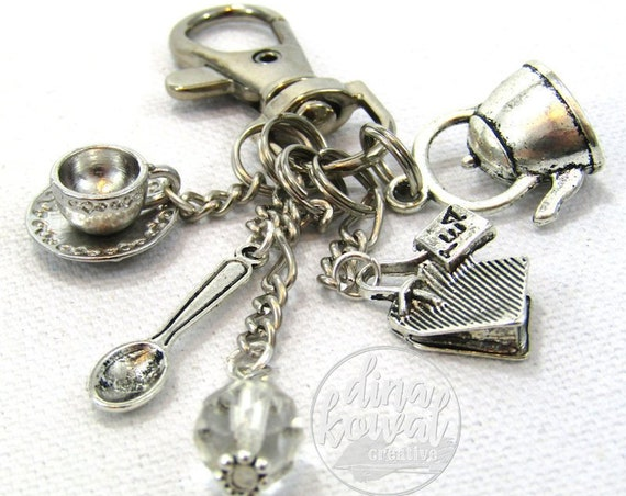 Tea Maker Purse Charm Zipper Pull Zipper Pull Keychain