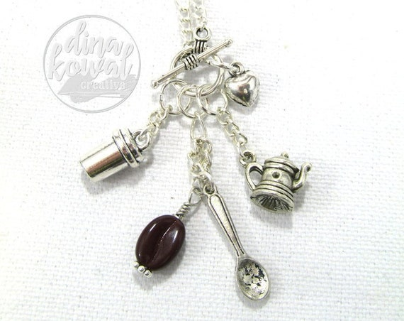Charm Necklace - Coffee Lover