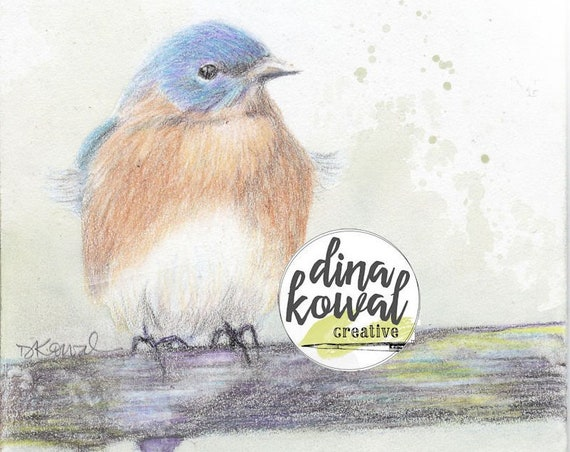 Notecards (set of 3) - Bluebird
