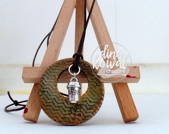 Coffee wood pendant