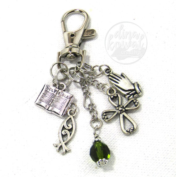 Prayer Christian Bible Fish Purse Charm Zipper Pull