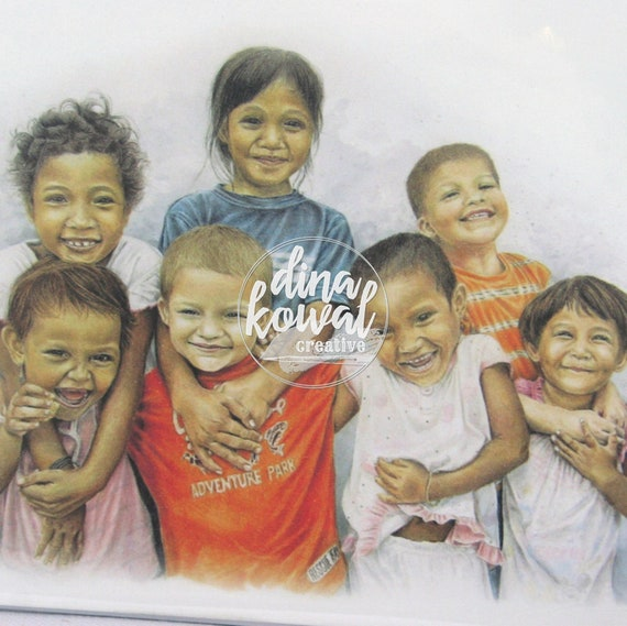 Notecards (set of 3) - Pure Joy - mixed race children