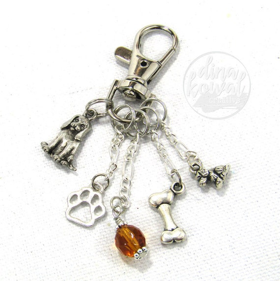 Puppy Purse Charm Zipper Pull